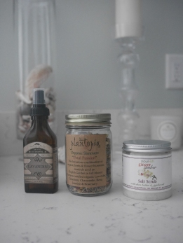 Lavender Face Mist, Dried Bath Tea, Body Scrub